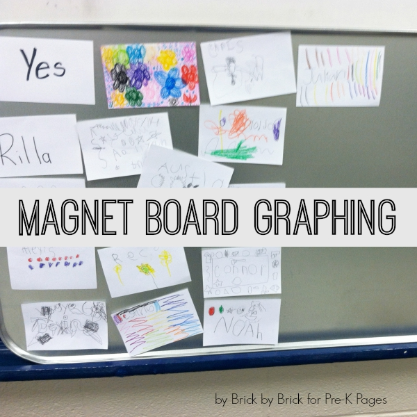 magnet board graph for preschool