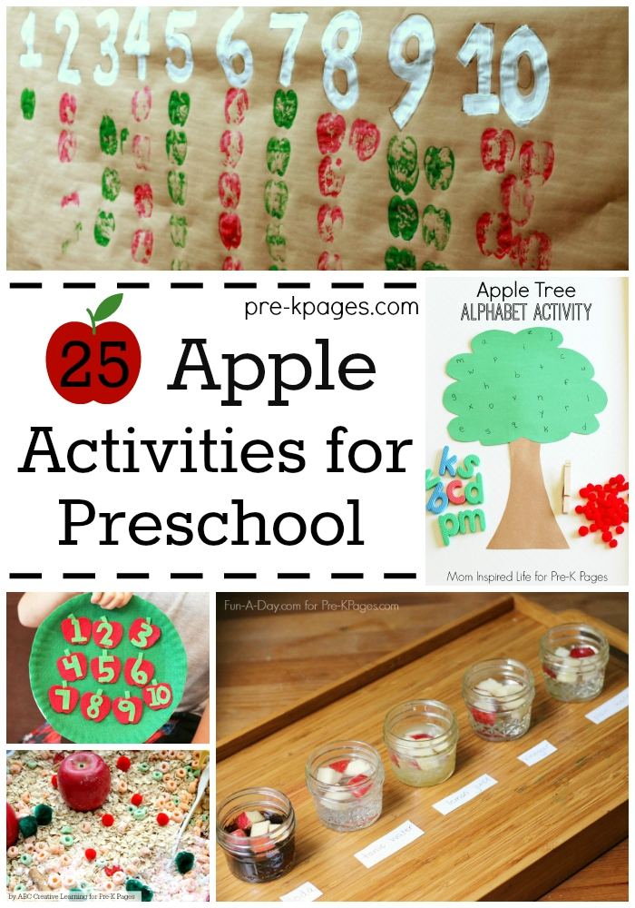 25 Apple Activites for Preschool