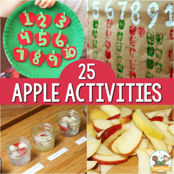 25 Apple Activities for Preschool