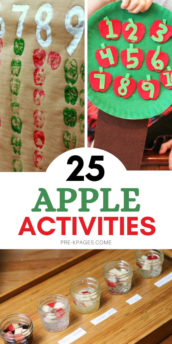 25 Apple Activities for Preschoolers
