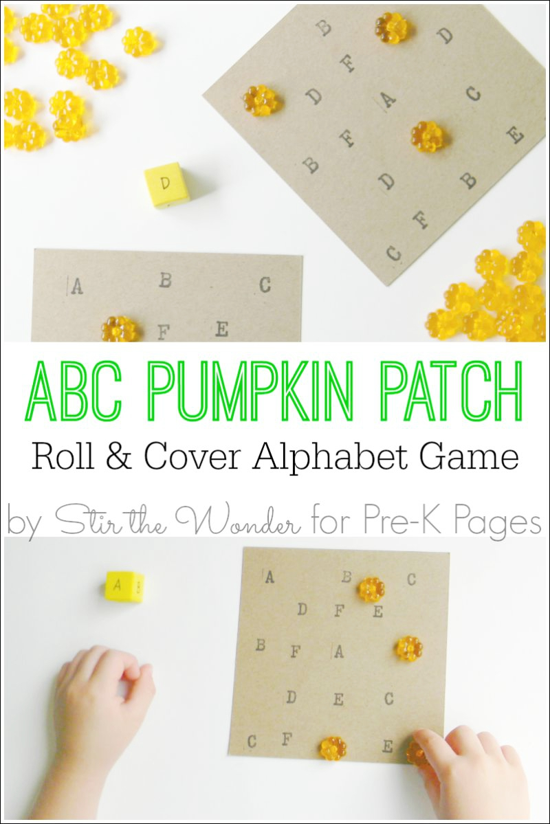 ABC Pumpkin Patch for preschool