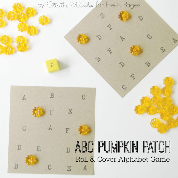 ABC Pumpkin Patch Roll and Cover Game