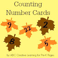 Counting Number Cards