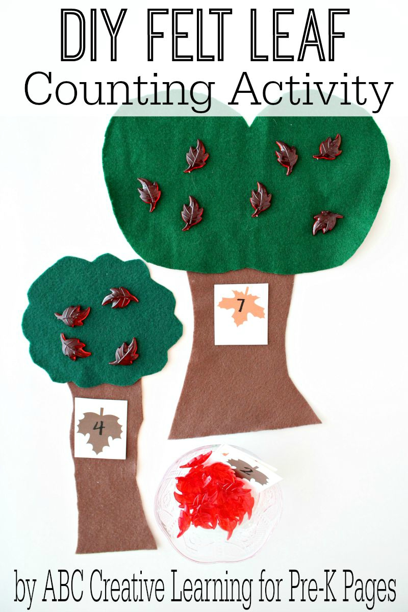 DIY Felt Leaf Counting Activity