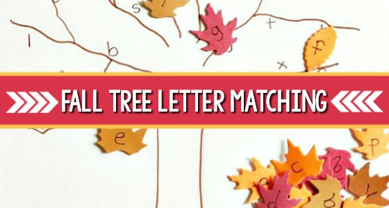 Fall Tree Letter Matching Activity