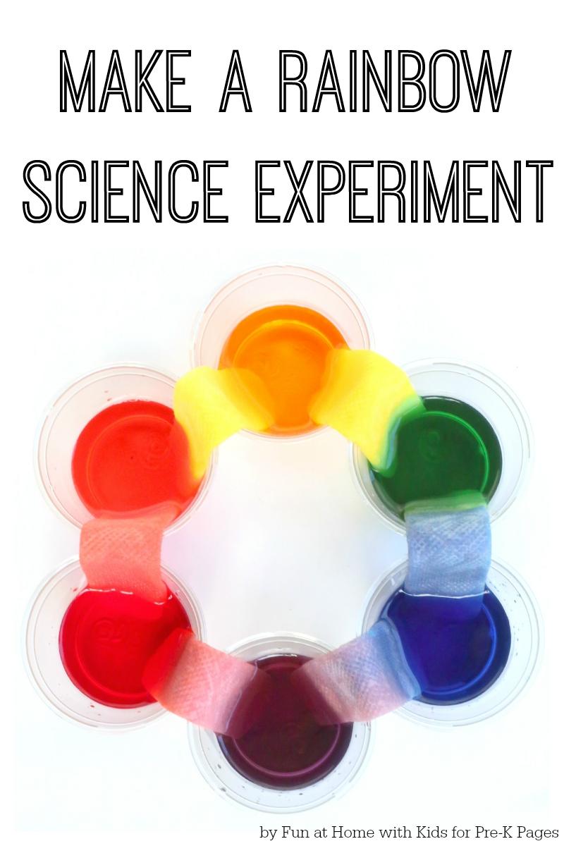 Science book make a rainbow experiment for preschool