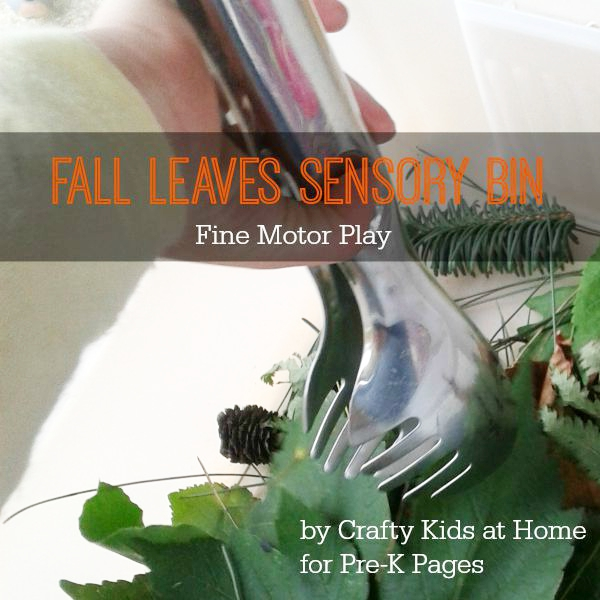 fall leaves fine motor play for preschool