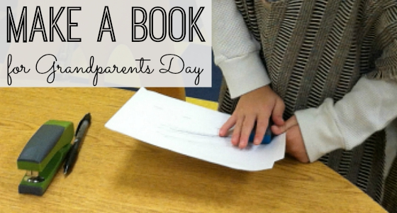 Make a Book for Grandparents Day