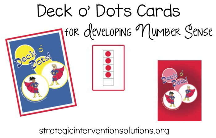 Deck O Dots Cards for Developing Number Sense in Preschool and Kindergarten