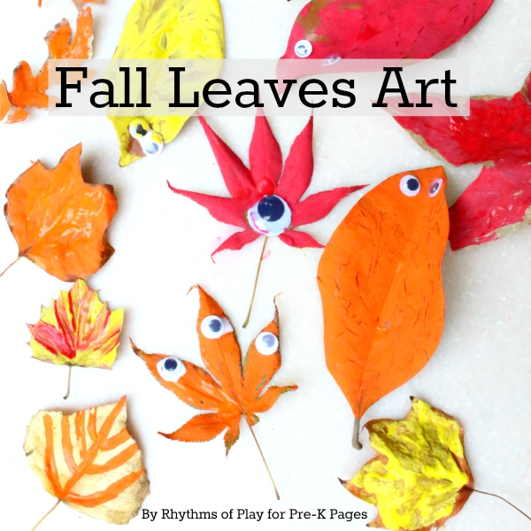 fall leaves art for preschool