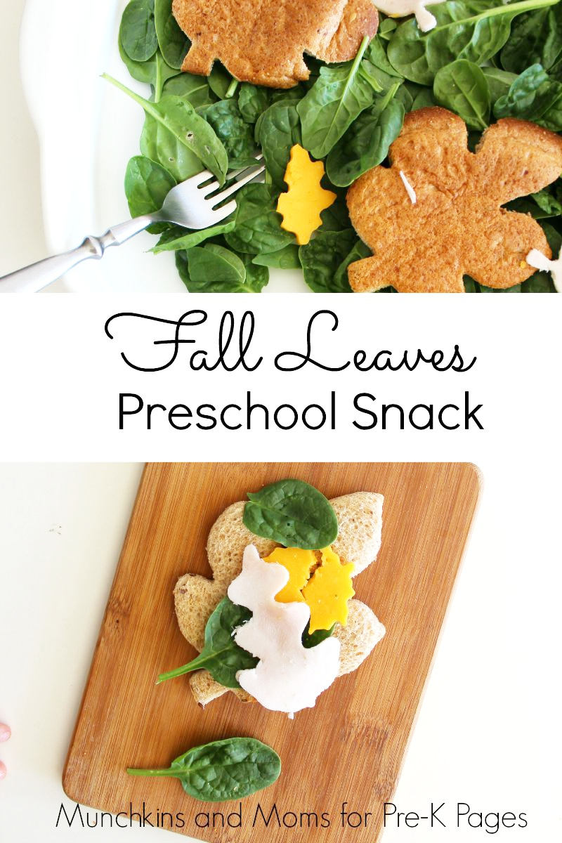 fall leaves snack for preschool