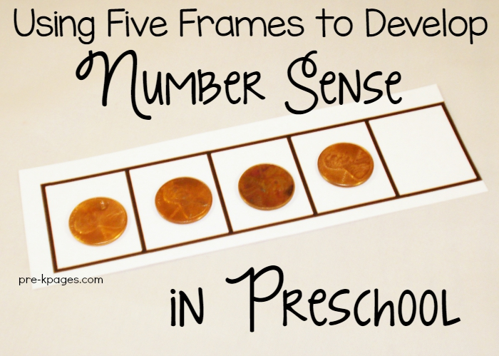 Using Five Frames to Develop Number Sense in Preschool and Kindergarten
