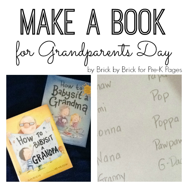 make a book grandparent day