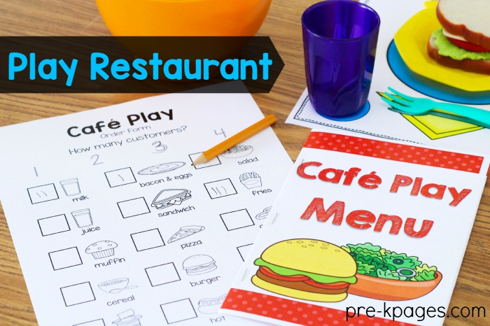 Printable Restaurant Order Forms with Pictures