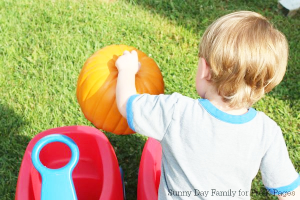 pumpkin patch dramatic play wagons