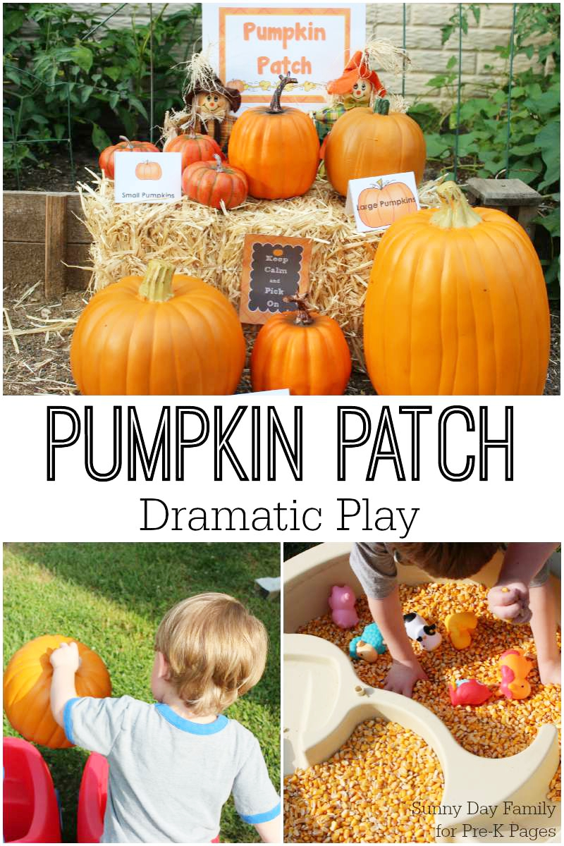 pumpkin patch dramatic play preschool