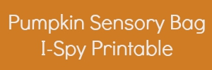 pumpkin sensory bag printable