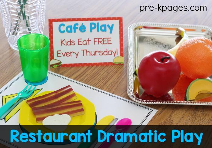 Pretend Breakfast for a Restaurant Theme