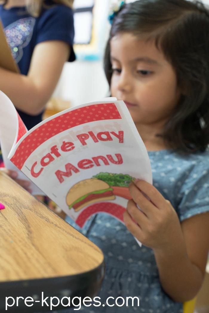 Pretend Play Restaurant in Preschool