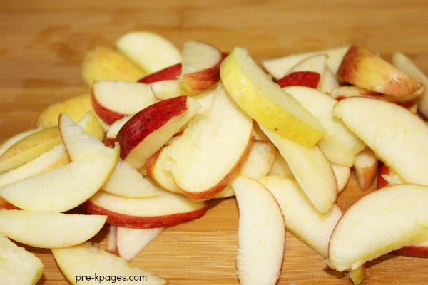 Sliced Apples for Applesauce