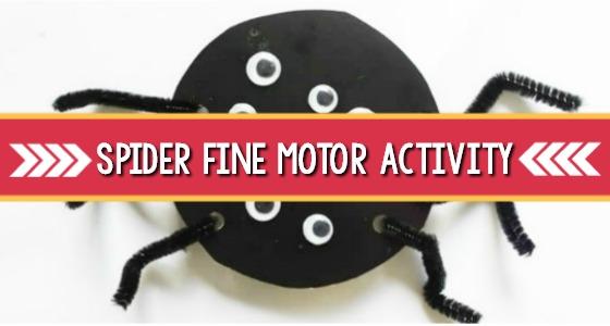 Spider Fine Motor Activity