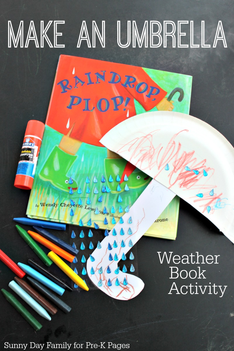 Make an Umbrella activity for preschool