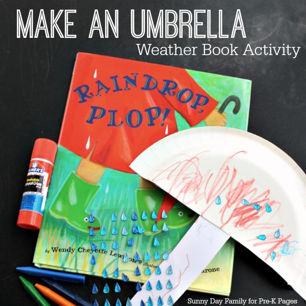 make an umbrella weather book activity