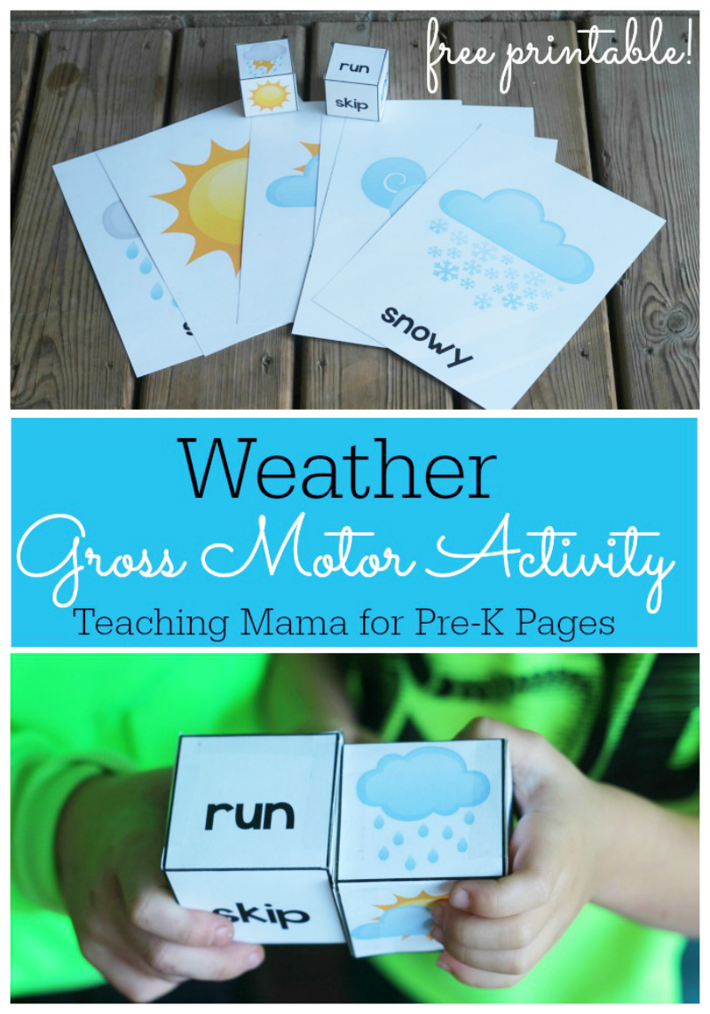 Weather Gross Motor Activity for preschool