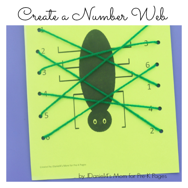 create a number web for preschool