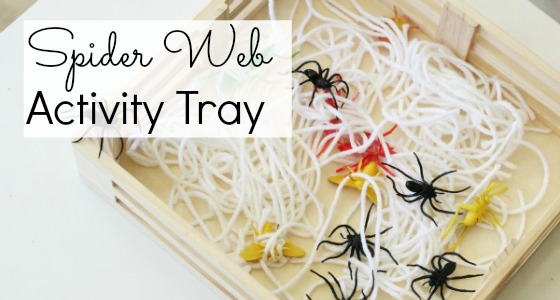 Spider Web Activity Tray
