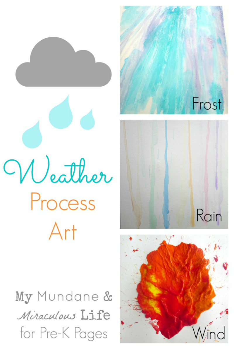 weather process art for preschool