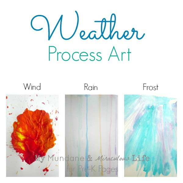 weather process art activities