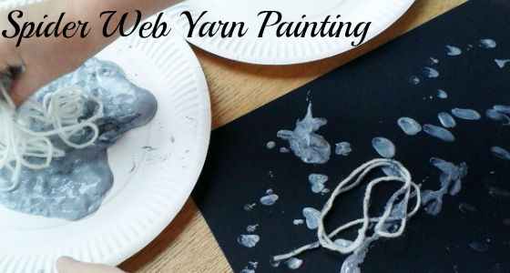 Spider Web Yarn Painting