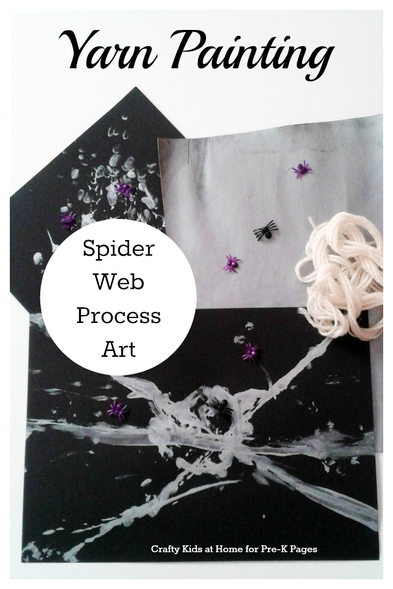 yarn painting spider webs