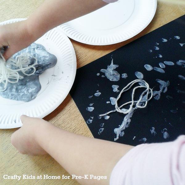 yarn spider web art painting