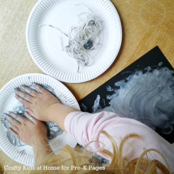spider web art activity for preschool