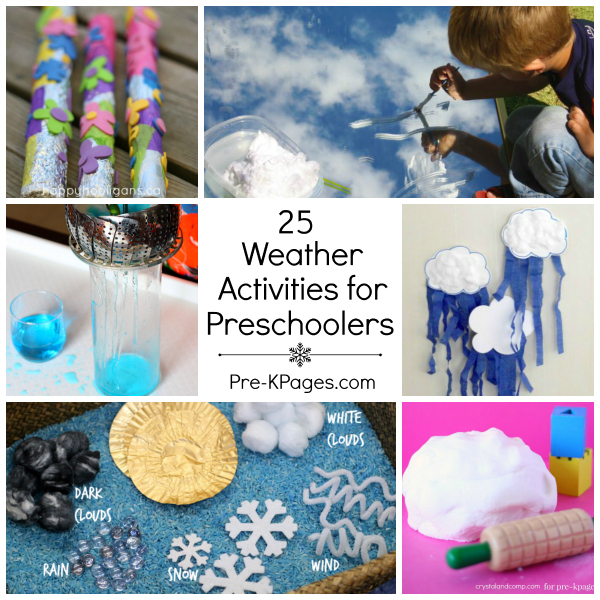 25 Weather Theme Activities for Preschoolers