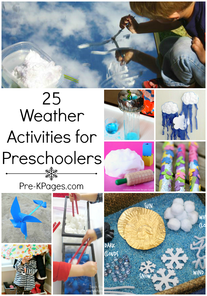25 Weather Theme Activities for Preschool and Kindergarten