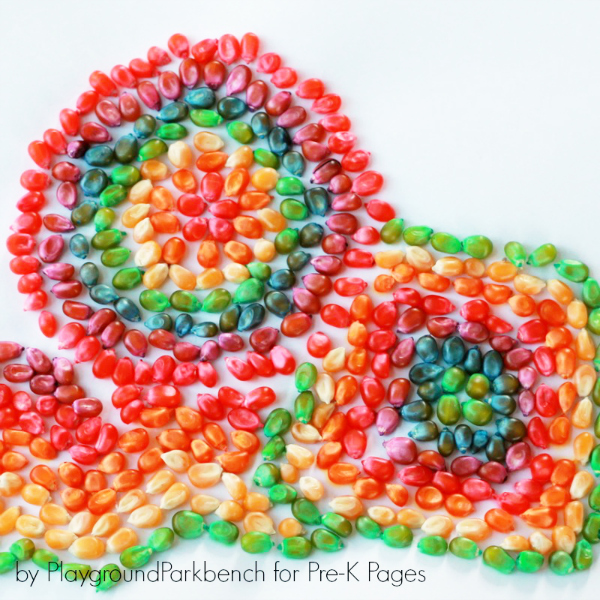 Colored Corn Mosaic ART