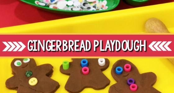 Gingerbread Playdough Recipe for Preschoolers