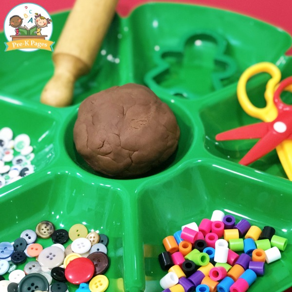 Gingerbread Playdough for Preschool