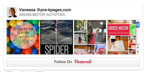 Gross Motor Activities Pinterest Board