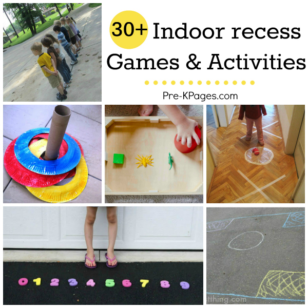 Indoor Recess Games For Preschoolers