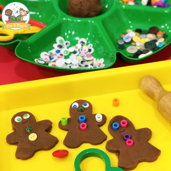 Making Gingerbread Playdough
