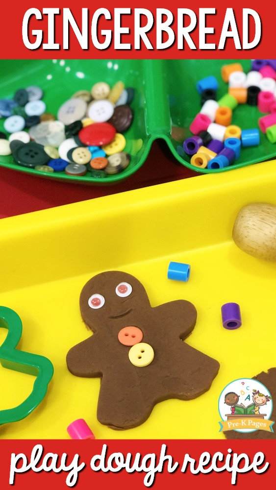Printable Gingerbread Playdough Recipe