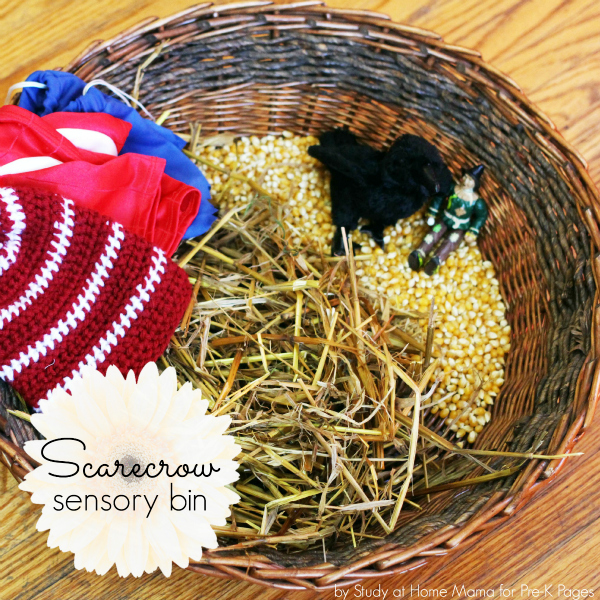 Scarecrow sensory bin