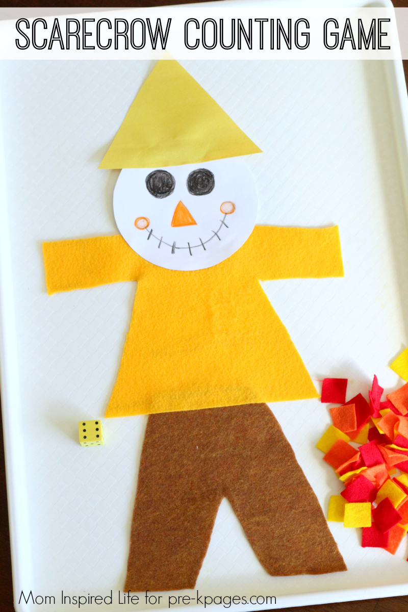Scarecrow Patches Counting Game for preschool