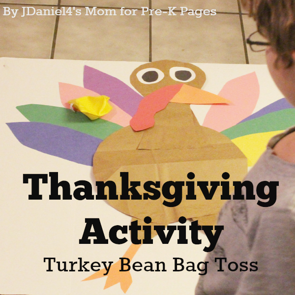Thanksgiving Activity Turkey Bean Bag Toss