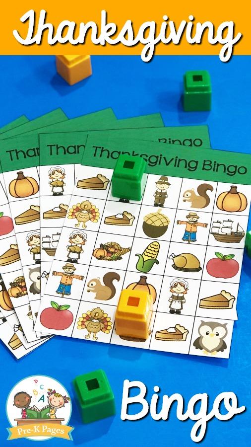 Thanksgiving Bingo for Preschool and Pre-K