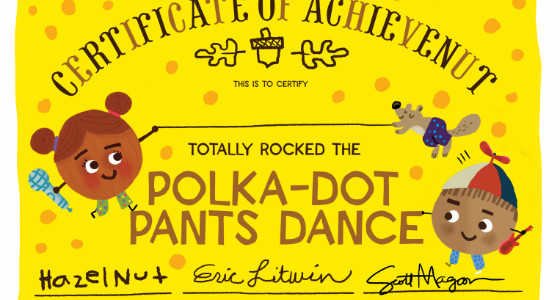 Polka Dot Pants Dance Contest Winner